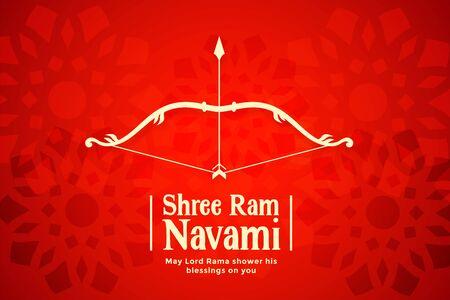shree ram navami red bow and arrow background