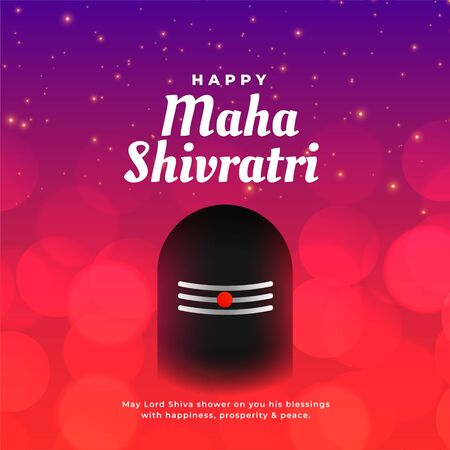 maha shivratri greeting background with shivling