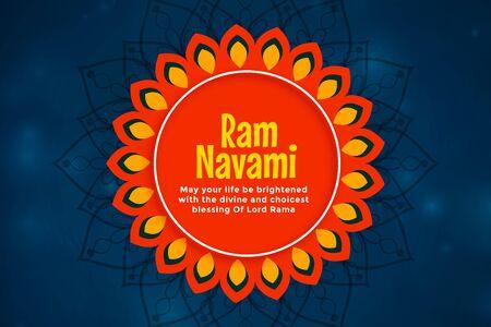 decorative ram navami festival greeting background design