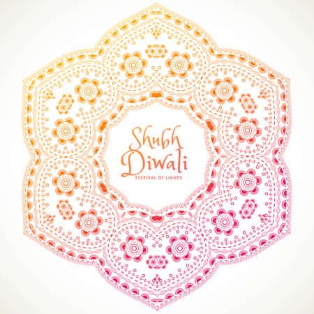 shubh diwali festival mandala art