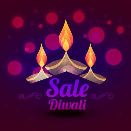 diwali sale design with colorful diya illustration