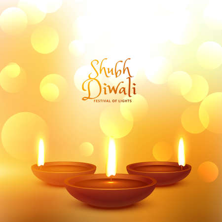 happy diwali hindu festival beautiful background Stock Illustratie