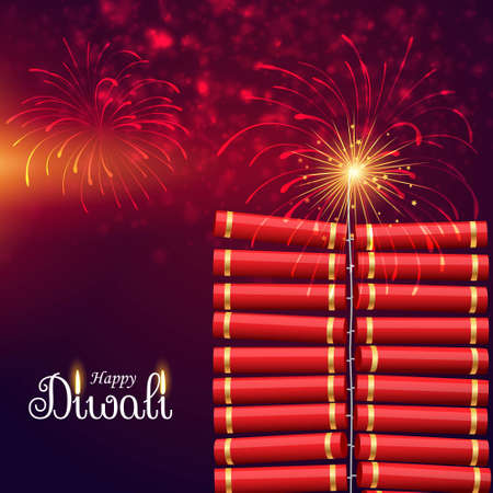 bursting cracker bomb for happy diwali festival