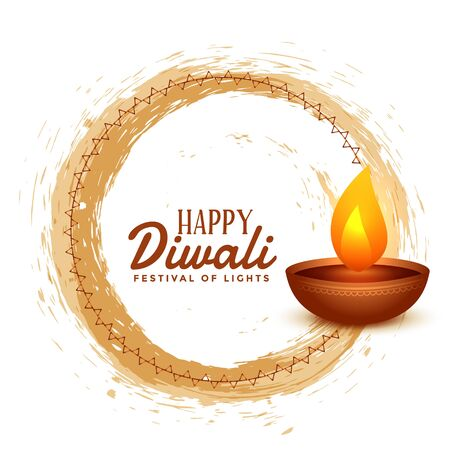 happy diwali hindu festival card design background Vektorové ilustrace