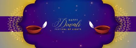 happy diwali festival season banner creative design