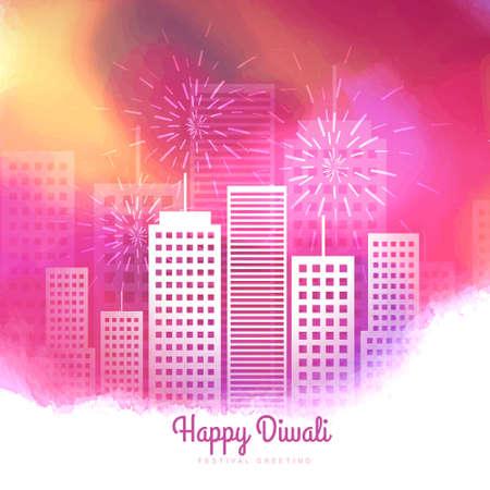 colorful diwali season fireworks design Stock Illustratie