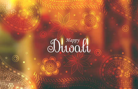 awesome diwali wallpaper background with paisley pattern