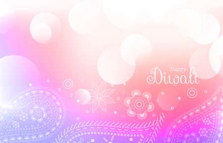soft colorful diwali greeting background Stock Illustratie