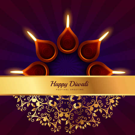 happy diwali greeting design background Vecteurs