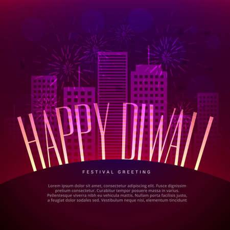 happy diwali greeting design Stock Illustratie