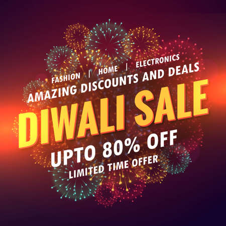 diwali sale offer banner design Stock Illustratie