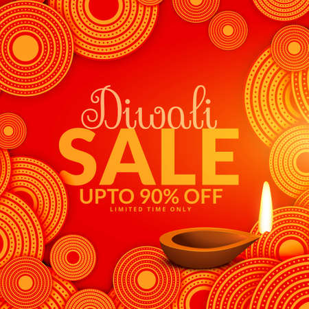 amazing diwali sale festival voucher background