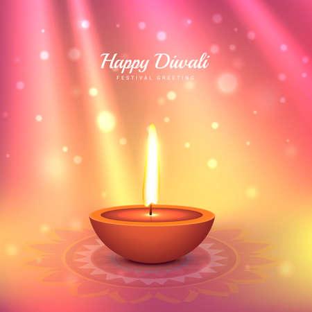 beautiful indian diwali festival greeting design Stock Illustratie