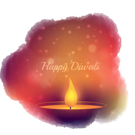 diwali diya celebration Illustration