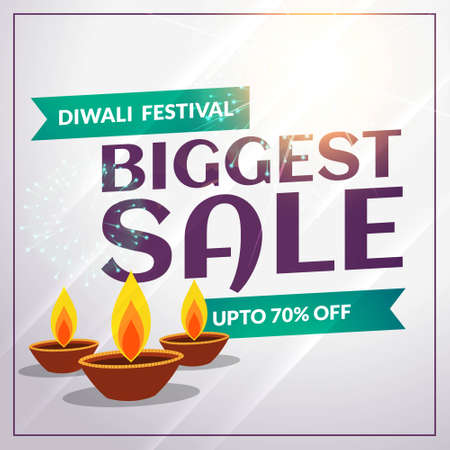 festival seasonal diwali discount and sale banner template Stock Illustratie