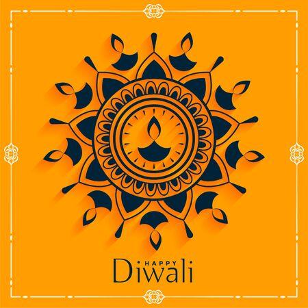 creative happy diwali diya decoration background design