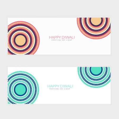 clean happy diwali festival banners