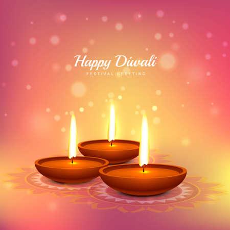 diwali festival greeting card design background Vector Illustratie