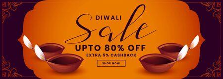 festival sale banner for happy diwali design