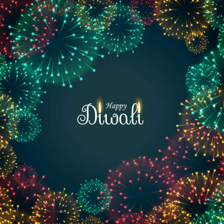 beautiful fireworks background for diwali festival