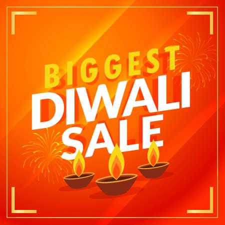 amazing biggest diwali sale discount promotional template Vector Illustratie