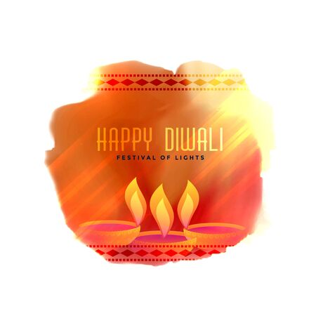 stylish creative diwali festival diya background Vektorové ilustrace