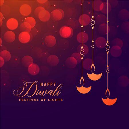 happy diwali festival holiday greeting decorative background