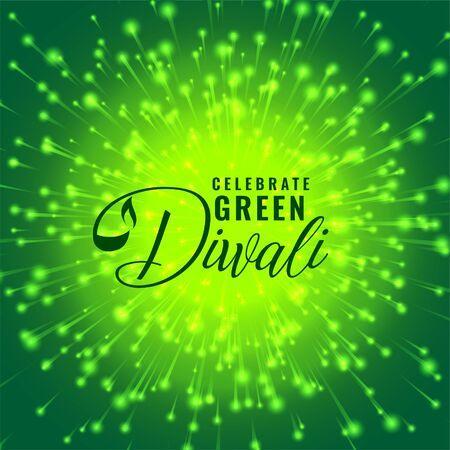 green diwali firework celebration concept background design