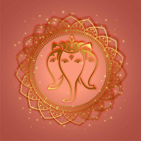 traditional lord ganesha ethnic style background design