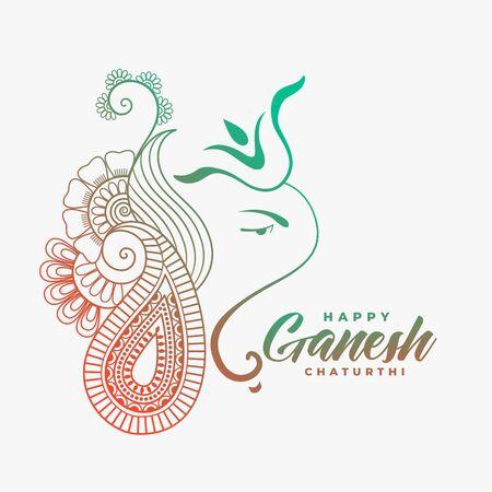 creative ganesha ji design for happy ganesh chaturthi