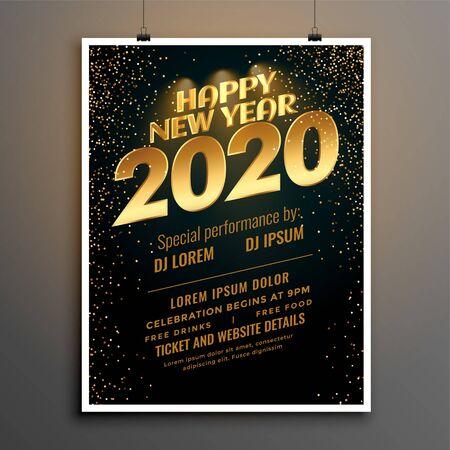 2020 new year party celebration flyer template design Illusztráció