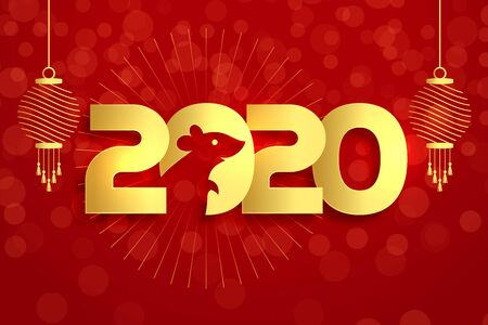 2020 year of the rat chinese new year background