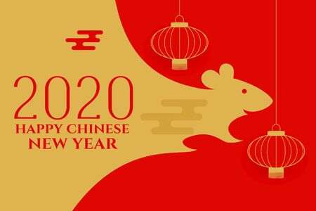 year of the rat chinese new year background Stock Illustratie