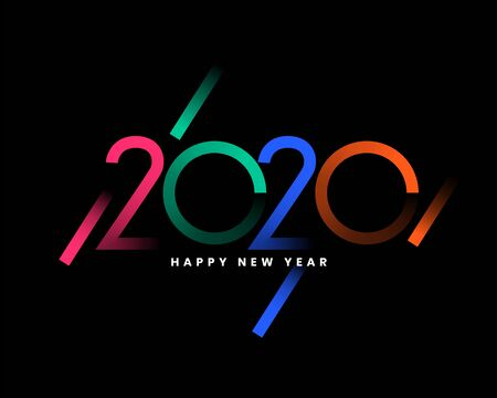 creative 2020 colors happy new year background