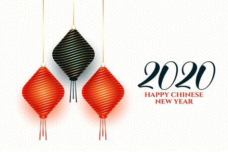 chinese new year lamps decoration background design