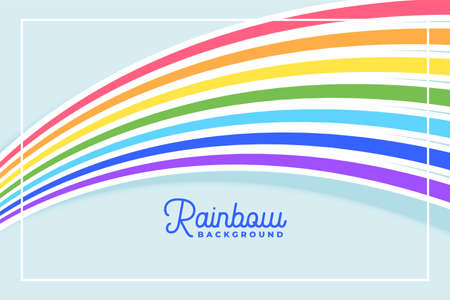 flowing rainbow lines in flat colors background