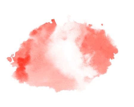 abstract red pastel color watercolor texture stain background Vector Illustration