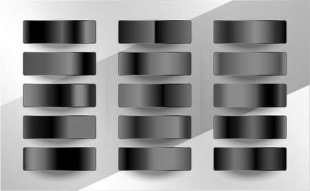dark and black gradients swatches in matte finish Illusztráció