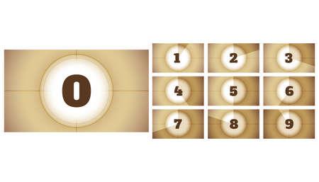 cinema film movie countdown timer frames presentation