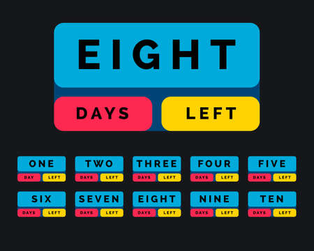 number of days left in button style design