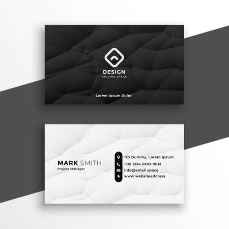 modern black and white business card template design