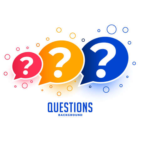 web questions help and support page design background Иллюстрация