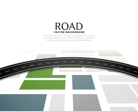 road map journey route pathway background design Ilustrace