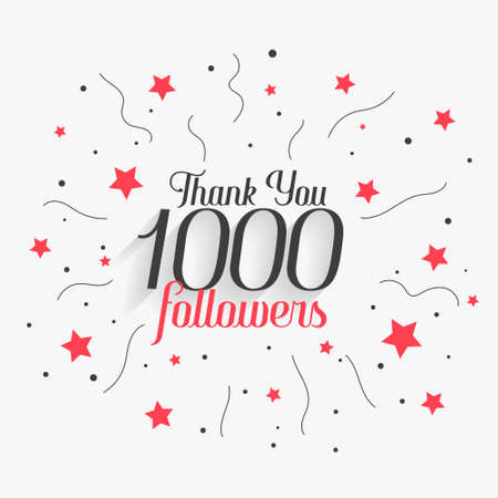 1000 social media followers thank you poster design