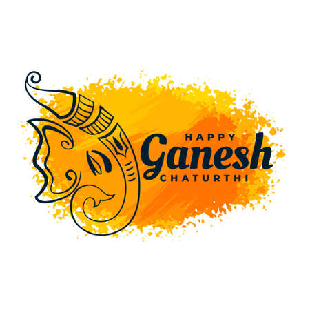 creative lord ganesha design watercolor festival background