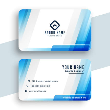 stylish blue business card modern design