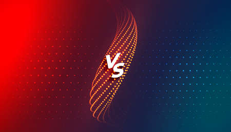 versus vs comparision screen background template design Vettoriali