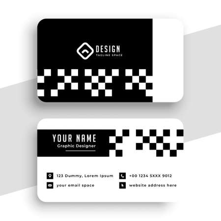 checkered style modern business card template design
