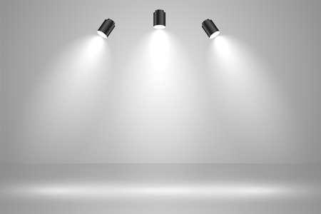 realistic studio lights empty background design Иллюстрация