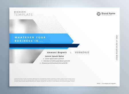 elegant blue modern business presentation template design Vettoriali